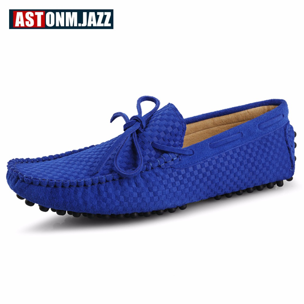 Men's Casual Suede Handmade Velvet Loafers Breathable Leather Driving Shoes Slip-on Boat Shoes Fashion Moccasins Men's Flat Shoe spring high quality genuine leather dress shoes fashion men loafers slip on breathable driving shoes casual moccasins boat shoes
