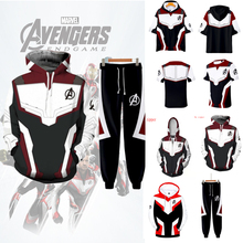 Marvel Avengers 4 End Quantum Kingdom Cosplay Costume Hooded Clothing Mens Hoodie Jacket Zipper Sweatshirt