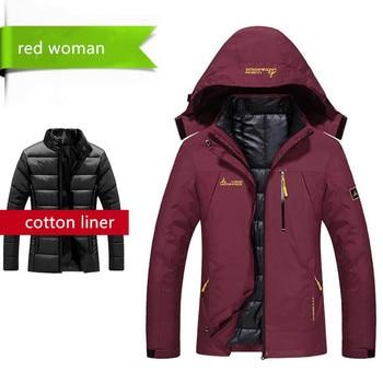 2017 Women Men Winter Warm Waterproof Softshell Jackets Outdoor Brand Clothing Coats Camping Trekking Hiking Female Jackets