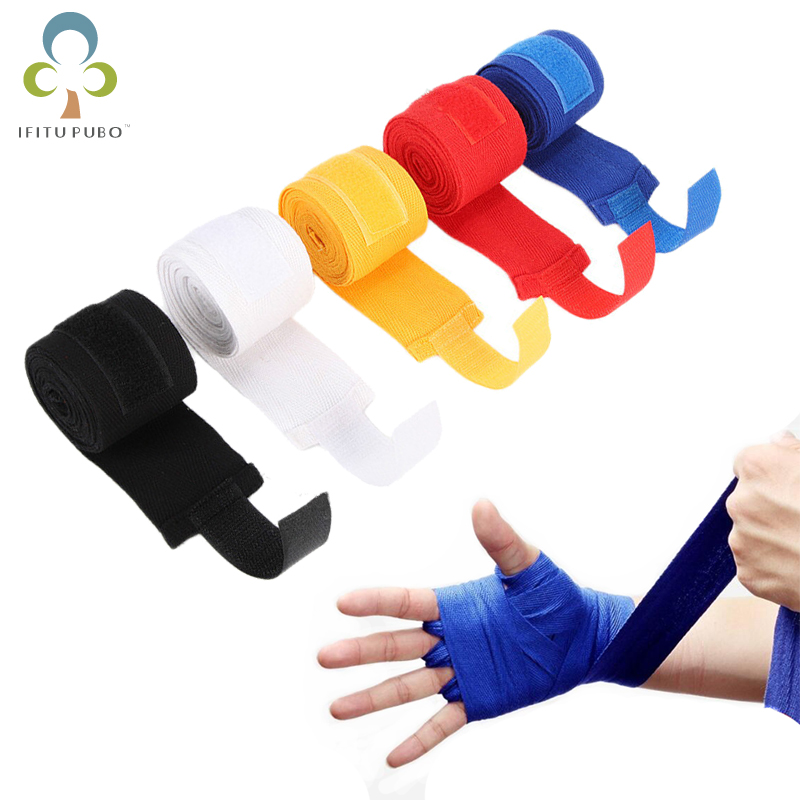 1//2pcs Box Sports Strap Boxing Bandage Muay MMA Taekwondo Hand Gloves Wrap