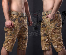 Tactical Outdoor Camouflage Capri Mannen Katoen Polyester Cropped Sneldrogende Broek Camping Tour(China)