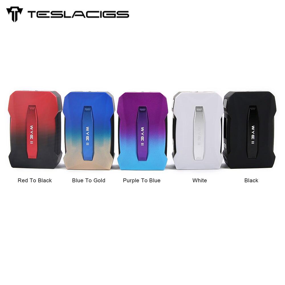 Original Tesla WYE II 215 W TC Box MOD avec écran OLED de 0.96 pouces et 215 W énorme sortie maximale en PC-ABS avancée VS WYE 200 W