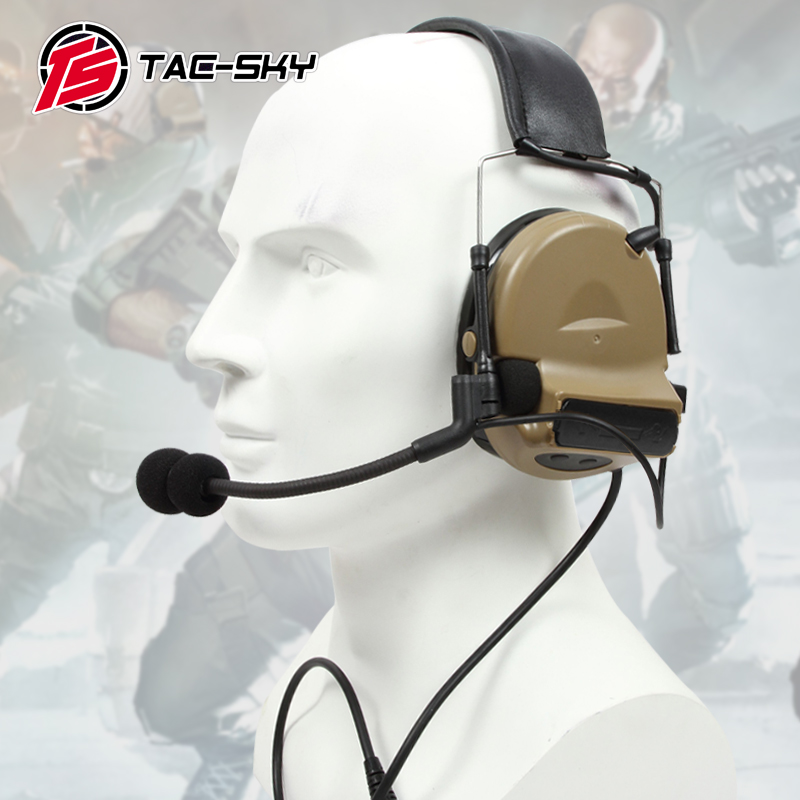 TAC SKY COMTAC II silicone earmuff version electronic tactical hearing defense noise reduction sound pickup military