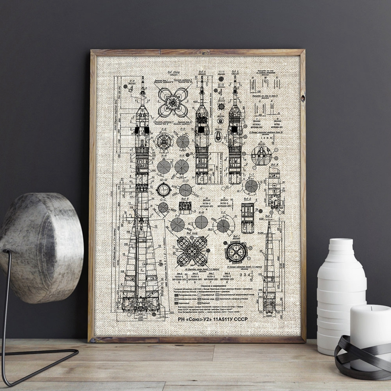 Russian Rocket Prints