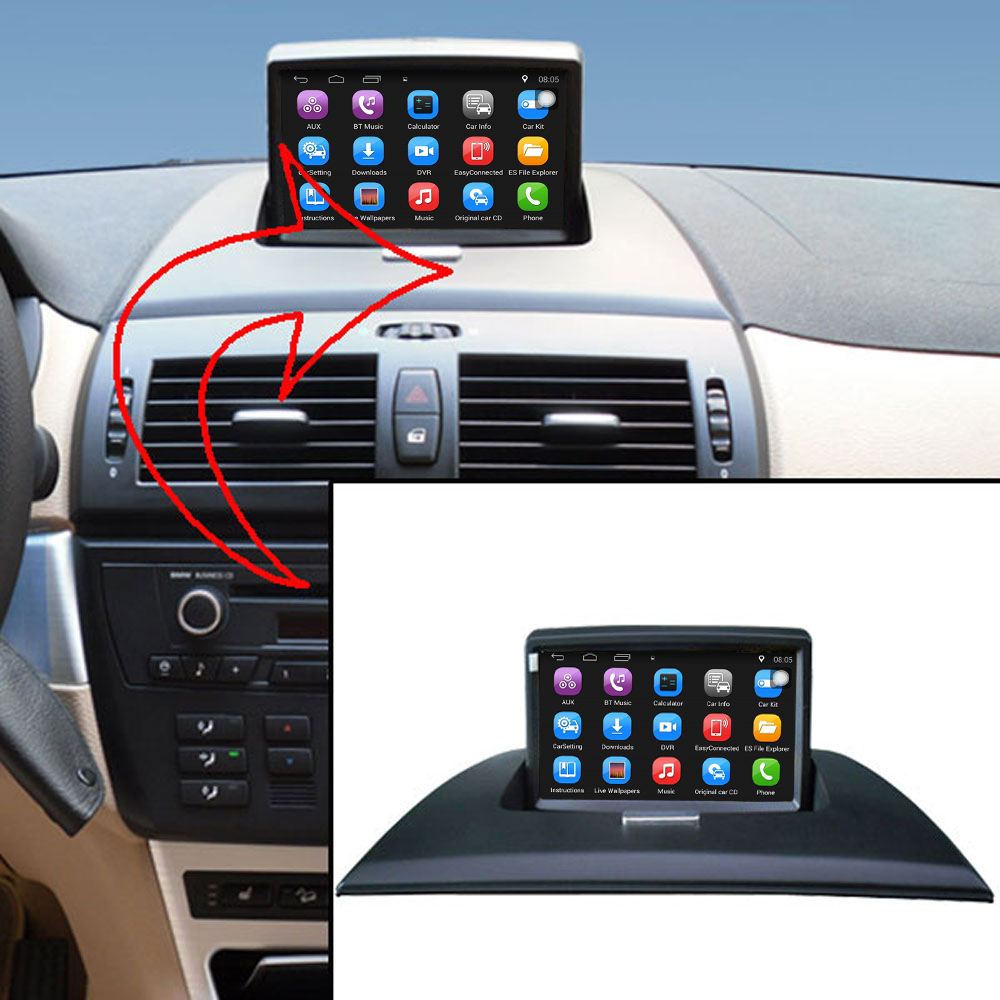 US $275 2 14% OFF|Android 7 1 Car media player for BMW X3 E83 car Video for  original car upgrade,keep original Radio(CD) all functions-in Car