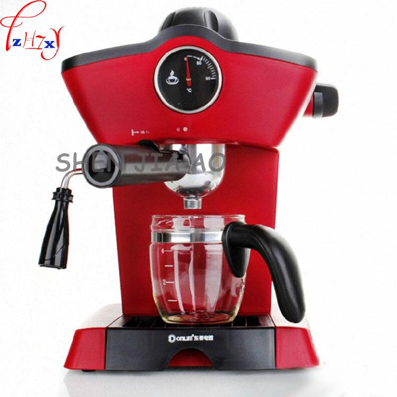 1pc 220V Household Italian semi-automatic pump coffee machine pressure steam cappuccino coffee machine coffee pot semi automatic italian coffee machine pump type coffee machine manual fancy coffee 220v 50hz 1100w 1pc