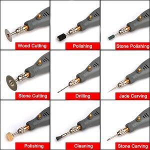 Image 4 - NEWACALOX DIY Mini Dreh Werkzeug USB DC 5V 10W Variable Geschwindigkeit Drahtlose Elektrische Grinder Set Holz Carving Stift für Fräsen Gravur