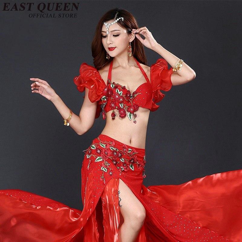 Costumes de danse du ventre 2018 Sari Dancewear femmes Costume de danse du ventre ensemble vêtements de danse indienne AA3107 Y