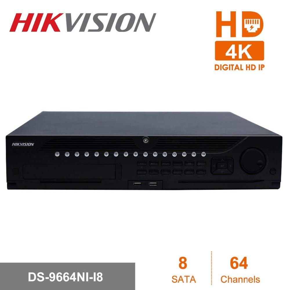 Hikvision DS 9664NI I8 Professional 64 Канала CCTV системы Встроенный 4 К к NVR до 12 мегапикселей разрешение 8 SATA 2 HDMI
