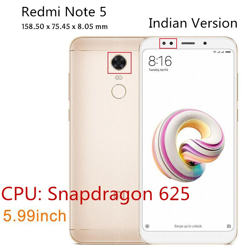 For Redmi Note 5 Indian