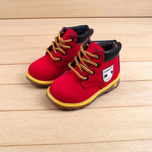 MUQGEW Baby Children Warm Boys Girls Sneaker Boots Kids Baby Casual Shoes Tie the British wind Martin Boots #TX4(China)