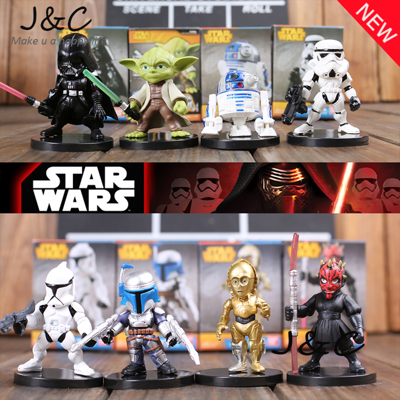 Star Wars 6 cm Yoda Darth Vader R2-D2 Roboter Stormtroopers Action Figure...