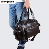 New Shoulder Bag PU Leather Men Bag Shoulder Messenger Bags Men Handbag Tide Large Capacity Travel Bags