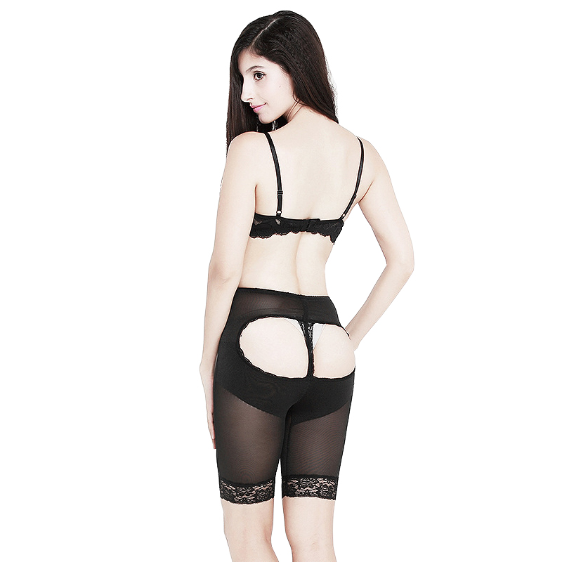 722d8099656 Women High Waist Lace Boyshorts Panties Over Lift Hip Shapewear Sexy  Control Trim Butt Skinny Pants Fishnet Bare Short Pants-in Control Panties  from ...