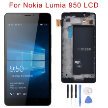 Original LCD For Nokia Lumia 950 Display Touch Screen Digitizer Replacement for RM-1104 RM-1118