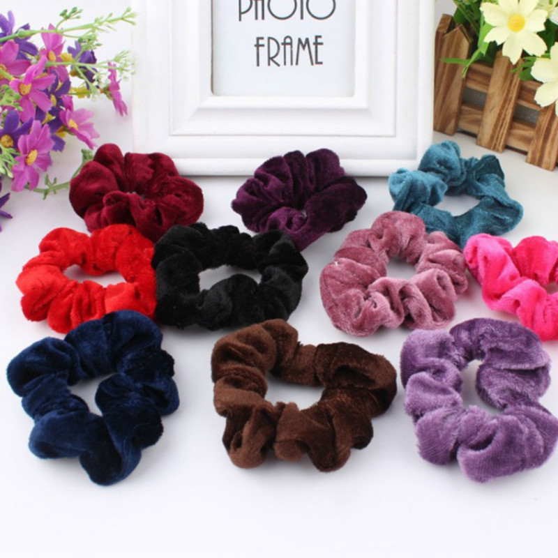 Scrunchies Velvet Ponytail Holder, Hair Accessories, Elastic Hair Bands, Hair Scrunchy