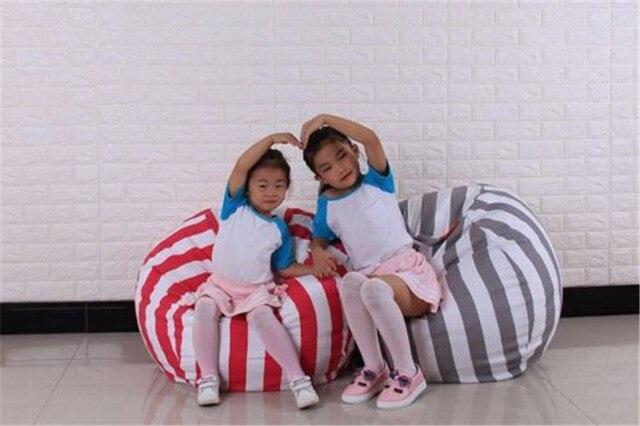 2018 vendendo quentes Kid Jardim interior Beanbag do Saco de Feijão Cadeira Para Crianças Em 2 Várias Cores & 2 Tamanhos para o miúdo brinquedo