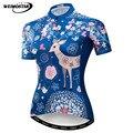 Weimostar Blau Radfahren Jersey Frauen MTB Bike Jersey Hemd Sommer Kurze Fahrrad Kleidung Maillot Ciclismo Quick Dry Radfahren Tragen-in Rad-Trikots aus Sport und Unterhaltung bei