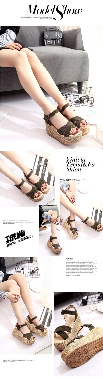 HTB10XeZdr1YBuNjSszhq6AUsFXa3 Summer Buckle Women's Sandals Velvet Flock Fish Mouth Fashion high Heel Platform Open Toes Women Sandals Shoes Drop Shipping