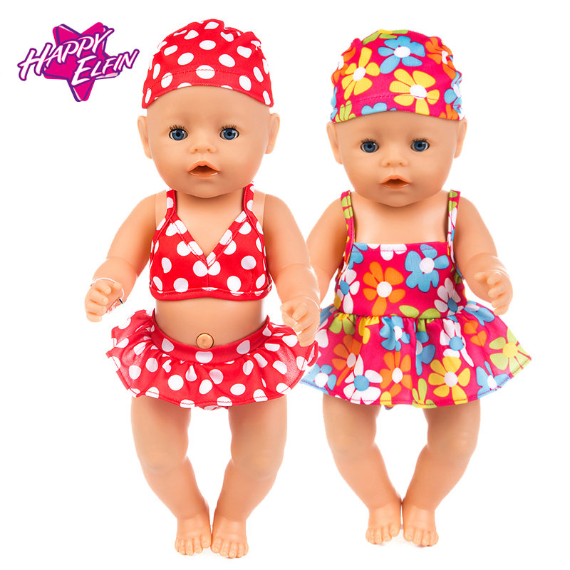 New Fashion Baby Doll Clothes Zapf Baby Born 43cm American doll clothes doll accessories swimsuit for dolls rose christmas gift 18 inch american girl doll swim clothes dress also fit for 43cm baby born zapf dolls