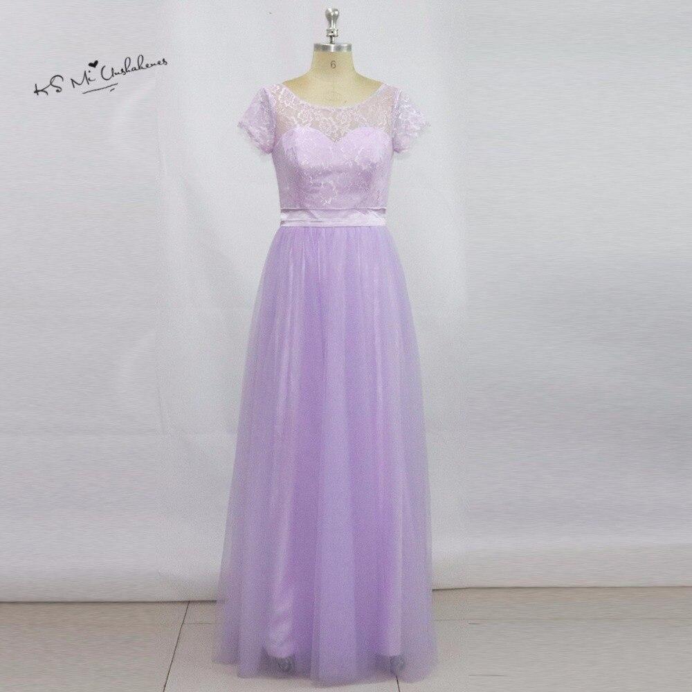 ღ ღVestidos de festa vestido Longo hermosa lavanda vestido de dama ...