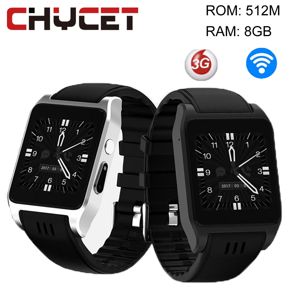 Chycet Wifi 3G X86 Bluetooth Smart Watch Phone Android 8GB 1.52 inch Touch Screen SMS Call Sync Smartwatch For apple Android IOS imacwear sparta m7 1 54 inch touch screen 3g smart watch phone ip67