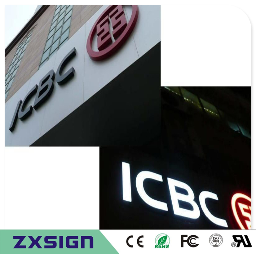 Factory Outlet Custom High Brightness Outdoor Black-white Acrylic Led Letters, Double Sided Illuminated Channel Letters Signs