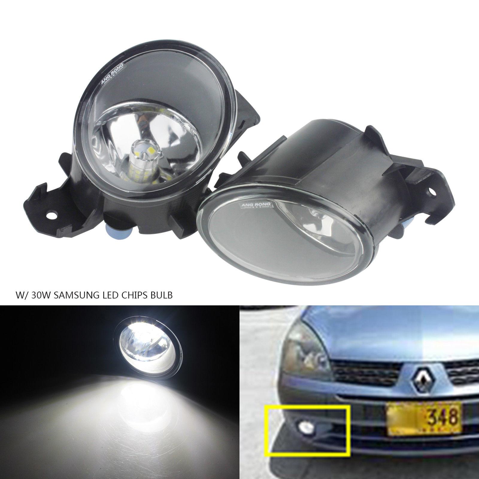 ANGRONG 30 w SAMSUNG LED Pare-chocs Avant Brouillard Lumière Lampe L & R Pour Renault Espace Laguna Maître