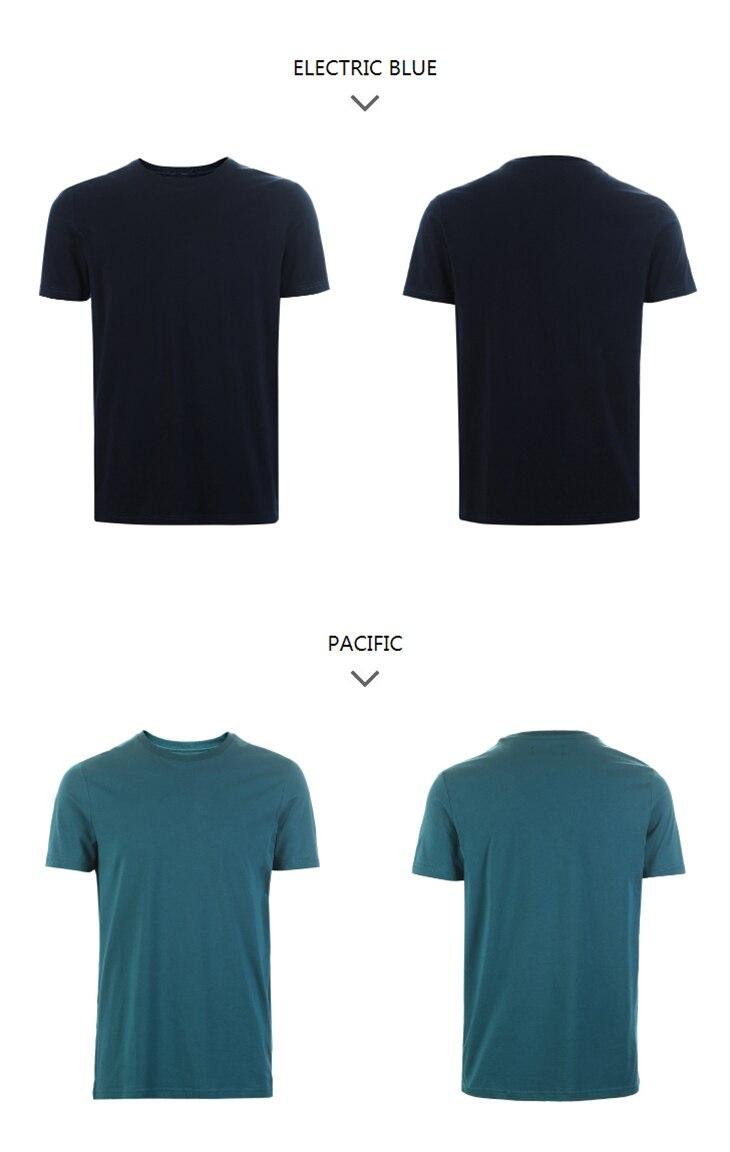 Men's Summer 100% Cotton Pure Color Round Neckline Short-sleeved T-shirt 72