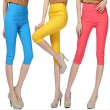 pants capris sports leggings fitness body building Elastic High Waist Girls Leggings Sport Wear Gym Tights Yoga Leggins YP50