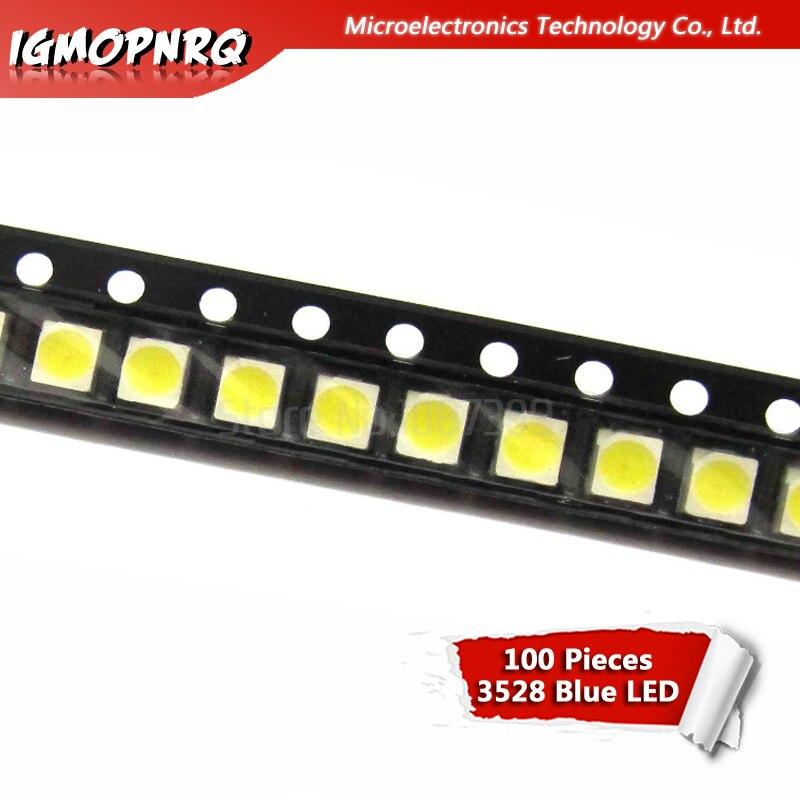 100pcs Blue 3528 1210 SMD LED Diodes Light