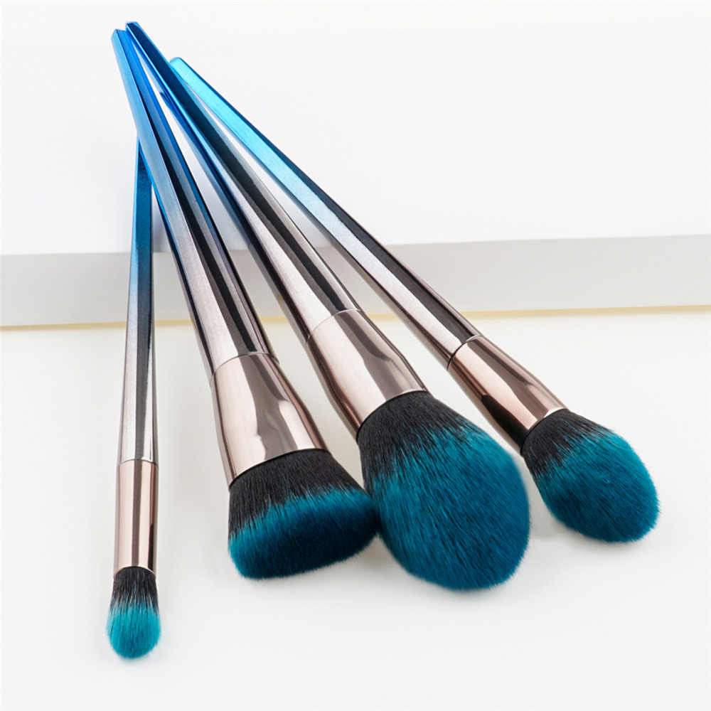 4Pcs  Soft hair Makeup Brush Sets Tools Cosmetic Brush Foundation Eyeshadow Eyeliner Lip Powder Brush Pinceau Maquillage