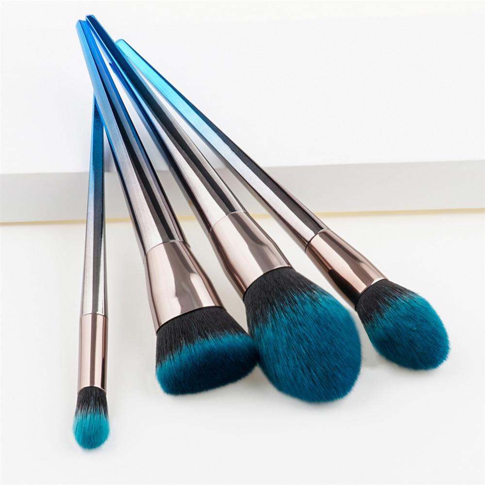4Pcs Soft hair Makeup Brush Sets Tools Cosmetic Brush Foundation Eyeshadow Eyeliner Lip Powder Brush Pinceau Maquillage