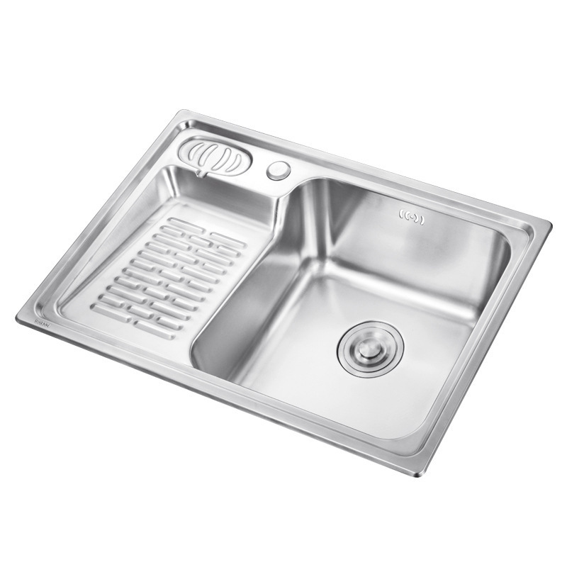 Permalink to kitchen sink stainless steel Finished brushed single bowl sink kitchen above counter or undermount without faucet kitchen sinks