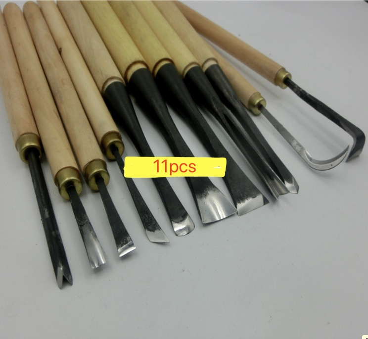 11pcs/lot Handmade Wood Carving Knife Essential Tool Set Fine Grinding 11pcs/lot Handmade Wood Carving Knife Essential Tool Set Fine Grinding