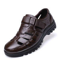 Ake Sia Size 38 44 Men Summer Style Shoes Classic Style Retro Gladiator Cool Men Sandals Fretwork Breathable Fisherman Shoes