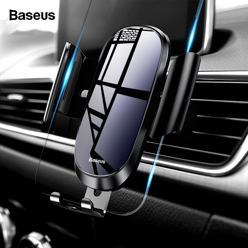 Baseus Auto Telefon Halter Für iPhone X XS Max XR Samsung S10 S9 Schwerkraft Air Vent Halterung Halter Für Telefon in Auto Mobile Halter Stehen