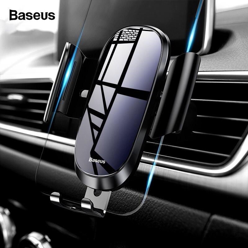 Baseus sostenedor del teléfono del coche para iPhone X XS X Max XR Samsung S9 S8 la gravedad soporte de montaje de ventilación de aire para teléfono en coche móvil soporte