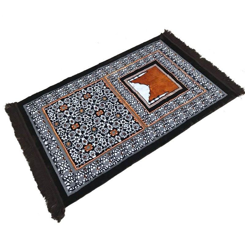 XHX888 tapis de prière de pèlerinage islamique musulman tapis 70*110 cm Tapete deux types couverture de couleur Banheiro Salat Musallah tapis de prière
