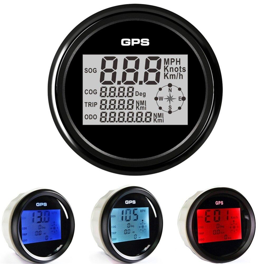 Pack of 1 85mm Digital GPS Speedometers 0 999 LCD Waterproof Speed Odometers Mileometers 9 32V