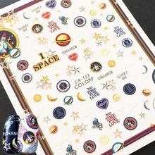 Новинка 3d наклейка для ногтей штамповочный шаблон японский