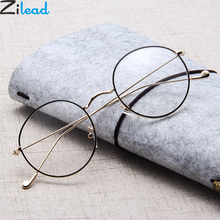 Zilead Round Reading Glasses Metal Prebyopia Spectacles For Men&Women Hyperopia Eyewear Eyeglasses Frame