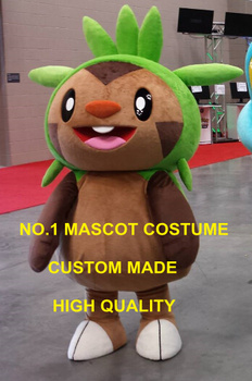 Chespin mascot costume Pocket Monster Anime Cosply Costumes Fancy Dress Kit for Shool 1999 image