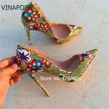 Shoes Pumps Retro Flowers