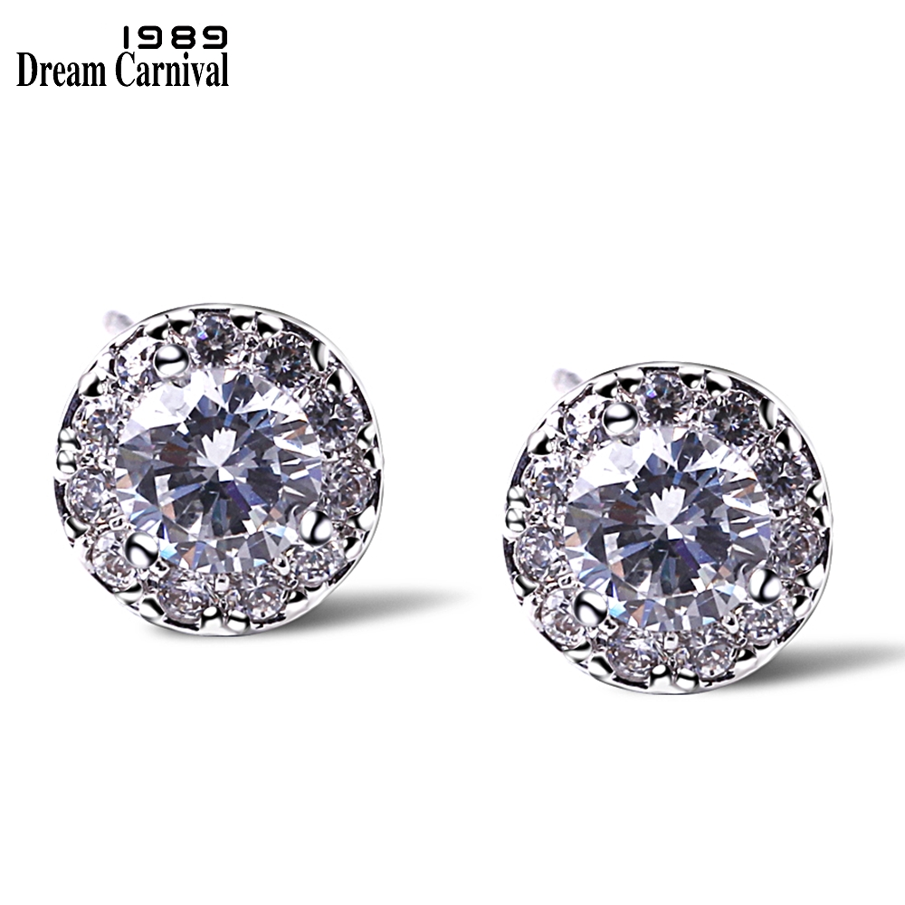 DreamCarnival1989 Hot Sell Simple Small Flower Studs CZ Daily Wear Jewelry High AAA quality Women Fashion Earrings studs SE04666