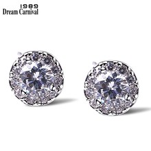 DreamCarnival1989 Hot Sell Simple Small Flower Studs CZ Daily Wear Jewelry High AAA quality Women Fashion Earrings studs SE04666(China)