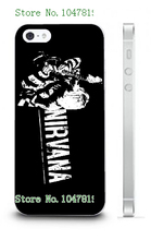 Mobile Phone Case Retail 1pc nirvana rock band Protective White Hard Case Cover For IPHONE 5