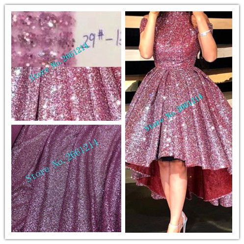 Latest pink african glued glitter lace fabric with all glitter high ... f00ea3add118