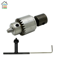 Free Shipping Professional Drill Chuck 0 3 4mm With 5mm Steel Shaft Mount JT0 Inner Hole
