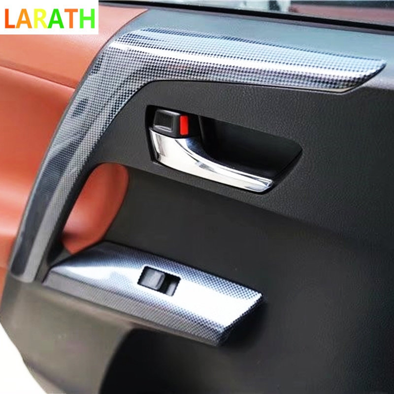 The New 17PCS For Toyota RAV4 RAV 4 2014 ABS Carbon Fiber Paint Front Dash Board Air Vent Panel Inner Door Interior Accessories